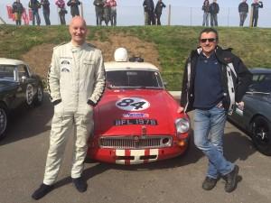 Midland Classic Restorations MGB Race car Snetterton 2015